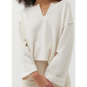 Urban Outfitters Jax Inside Out Notch Neck Top